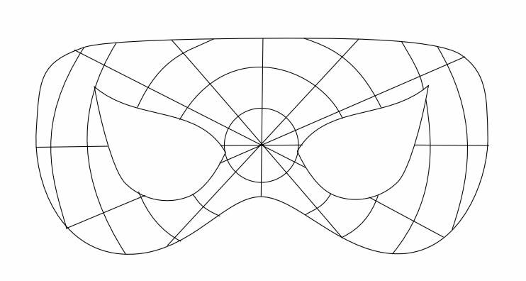 Molde para Máscara de Homem-aranha
