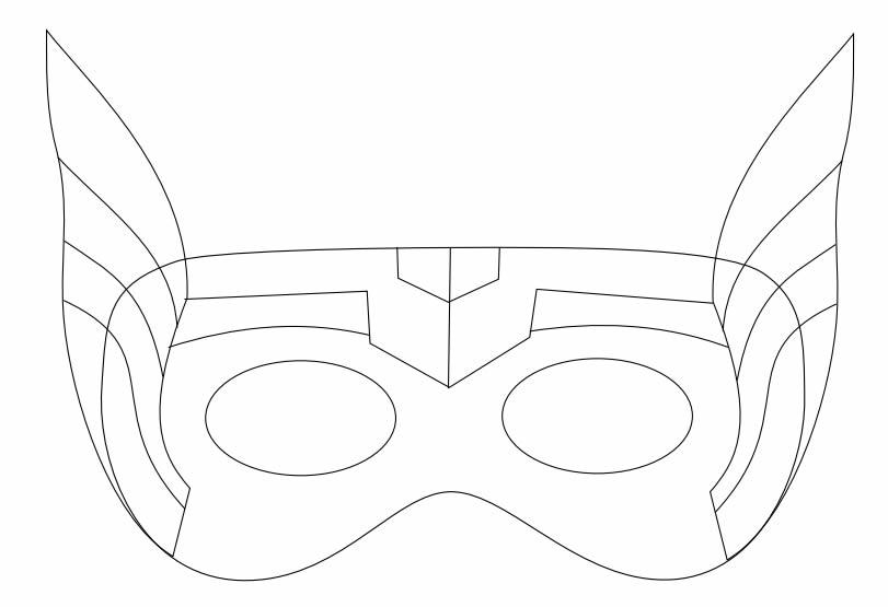 Molde para Máscara de Thor