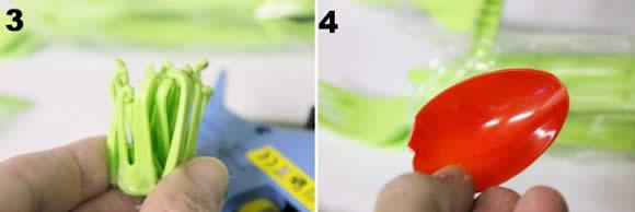 Flor com Colheres e Garfos de Plástico Passo a Passo