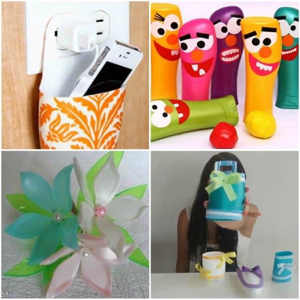 10 Artesanatos Para Fazer Com Embalagem De Shampoo