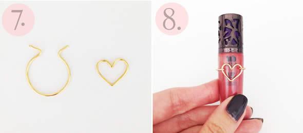 Como fazer Anel de Coração Passo a Passo