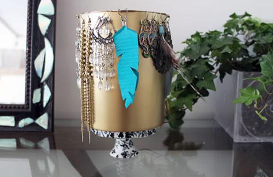 Como fazer caixa organizadora de papel para bijuterias