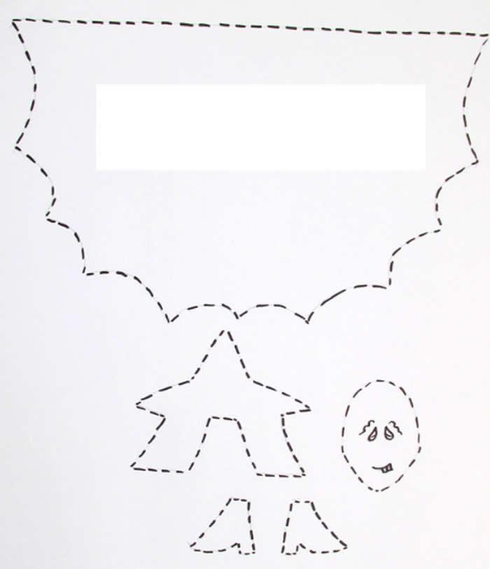Lembrancinha com Bruxinha de Papel para Halloween com Moldes