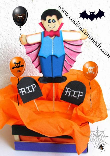 Lembrancinha em EVA para Halloween com Moldes