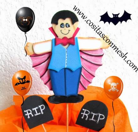 Lembrancinha com EVA para Halloween com Moldes