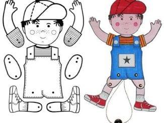 Bonequinhos de Papel para Imprimir e Brincar com as Crianças