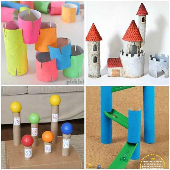Brinquedos com Rolos de Papelão