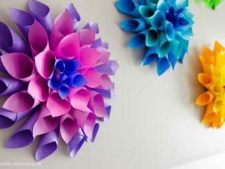 Decoração Barata para Festa com Papel Colorido