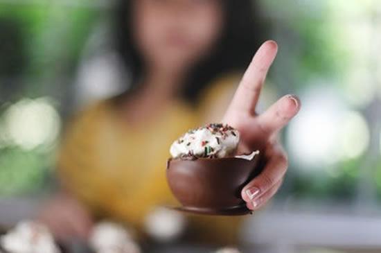 Sobremesa com Chocolate para o Dia das Crianças