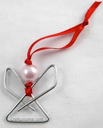 Como fazer Anjinho de Clips para Decoração de Natal passo a passo