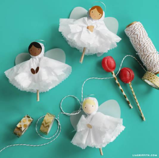 Como fazer Anjinhos com Pirulitos - Lembrancinha para o Natal