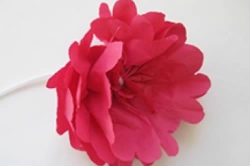 Flores de Papel para Decoração passo a passo