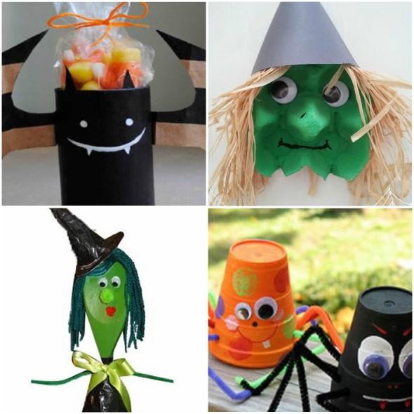Enfeites Criativos com Reciclagem para fazer no Halloween