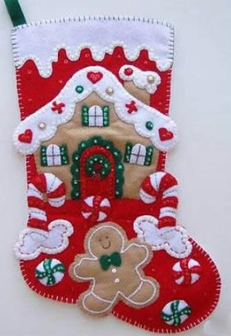Moldes para fazer Enfeites de Feltro Fáceis para o Natal