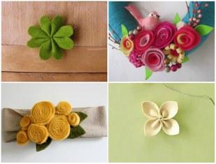 Faça Lindas Flores de Feltro para Decoração Passo a Passo