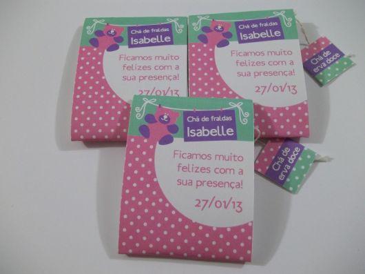 lembrancinha para chá de fraldas tissue paper