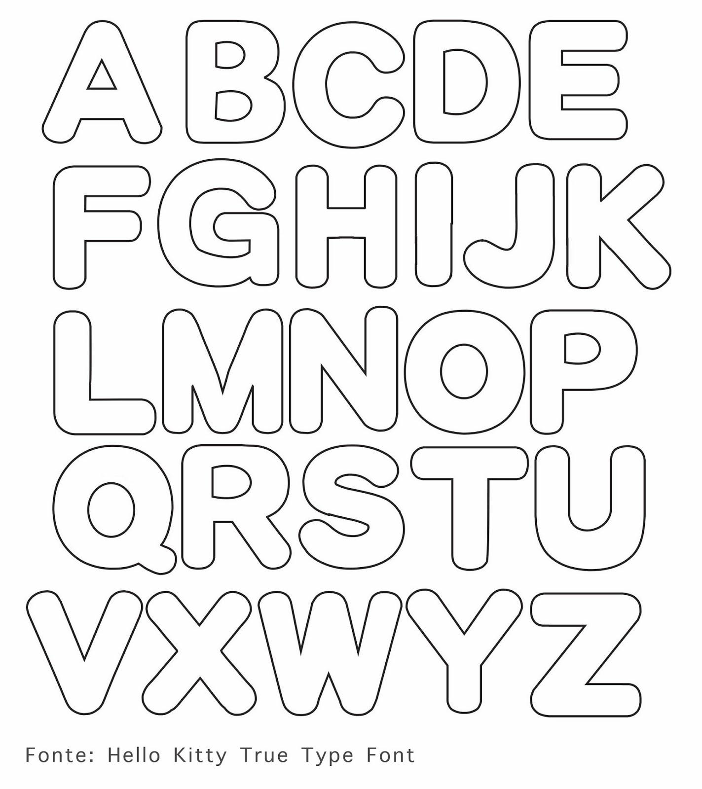 Excepcional Como Fazer Letras em Tecido com Moldes - Alfabeto para Imprimir GW46