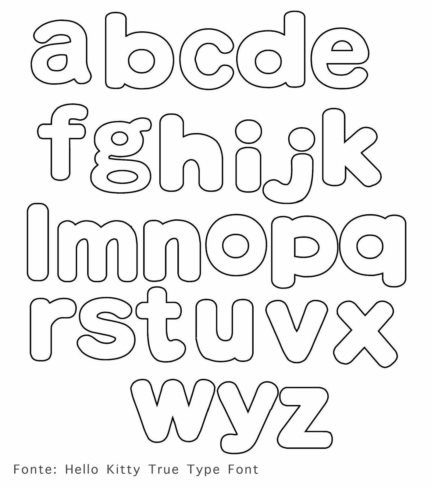 الگو حروف انگلیسی Como Fazer Letras em Tecido com Moldes - Alfabeto para ...