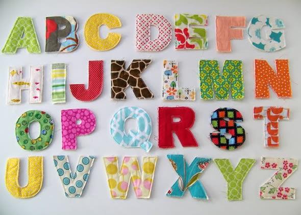 Como fazer letras em tecido com moldes alfabeto para - Como hacer letras decorativas ...