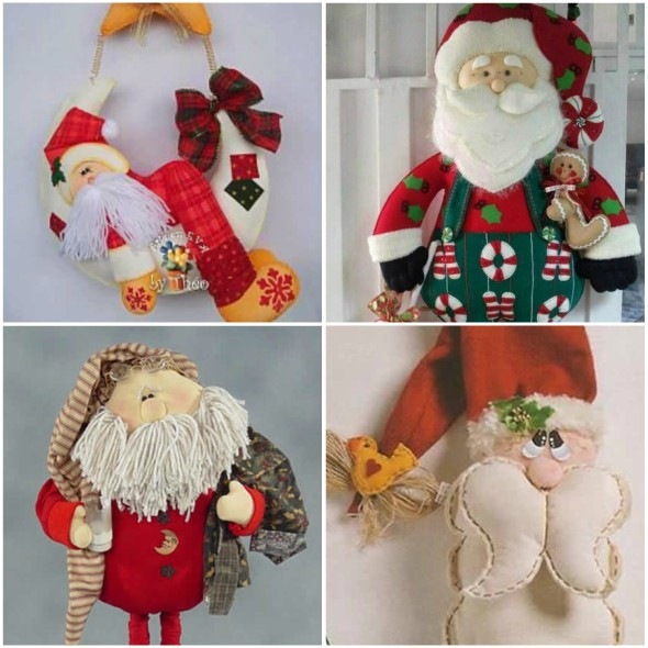 Mais 10 Moldes De Papai Noel De Feltro Para Imprimir