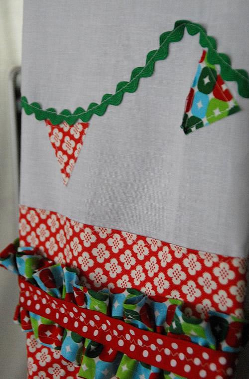 Como fazer Pano de Prato Natalino com Costura