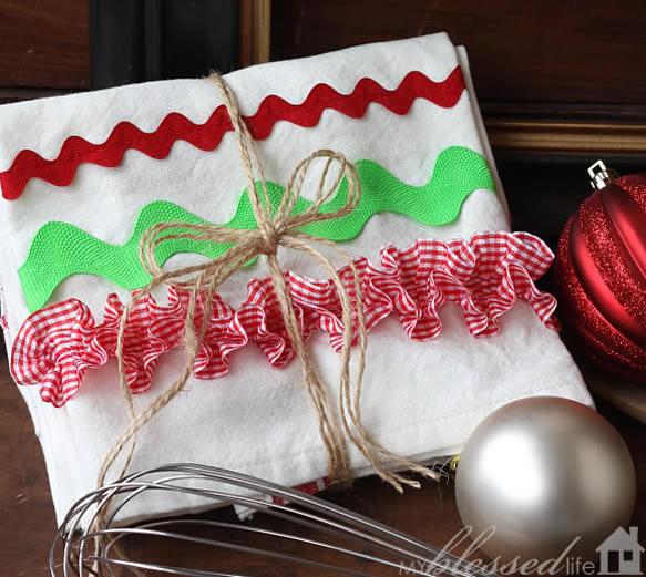 Panos de Prato para o Natal passo a passo