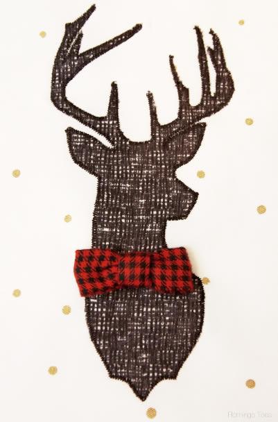 Pano de Prato para o Natal em costura com moldes
