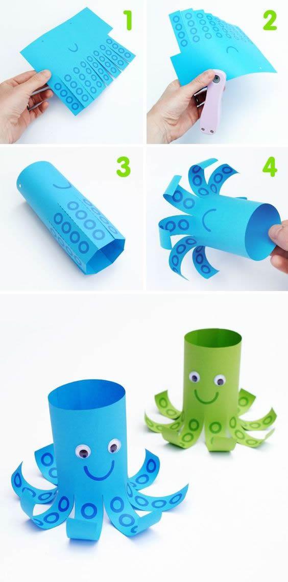 Artesanato Fácil com Papel para fazer com Crianças