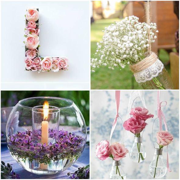 Decoraç u00e3o para Casamento Simples e Bonita Mais de 20 Ideias -> Decoração De Mesa De Casamento Barato