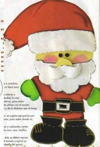 Moldes para fazer Enfeites de EVA para o Natal