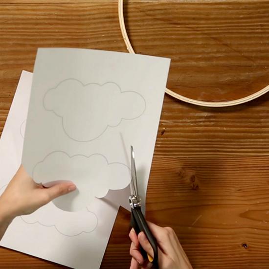 Nuvem de Papel em 3D com Moldes para Decoração de Festas