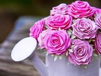 Lindas Rosas de Papel para Decoração passo a passo