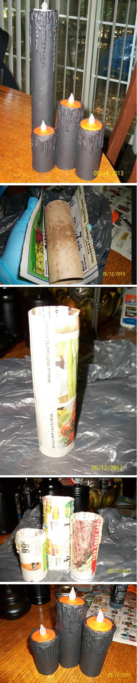 Como fazer Velas de Natal com Rolo de Papel