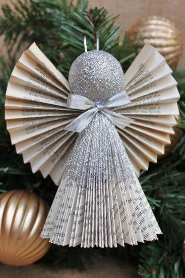 Anjos de Papel com Dobradura para Decoração - 10 Ideias Lindas