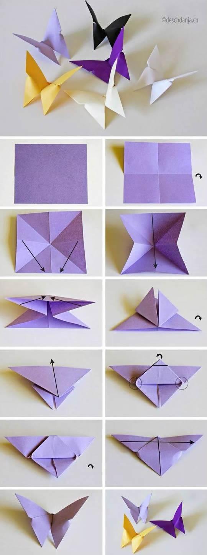 Como fazer Borboletas de Origami passo a passo - Super Fácil