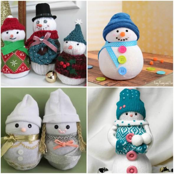 10 Formas Para Fazer Bonecos De Neve Com Meias Para Decoração