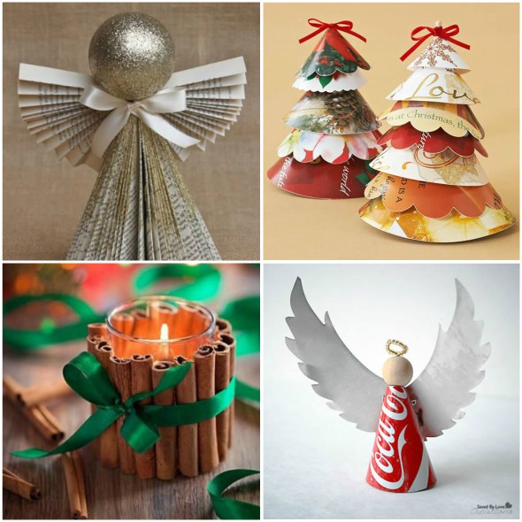 Decoração para Mesa de Natal com Material Reciclado - 10 Ideias Lindas