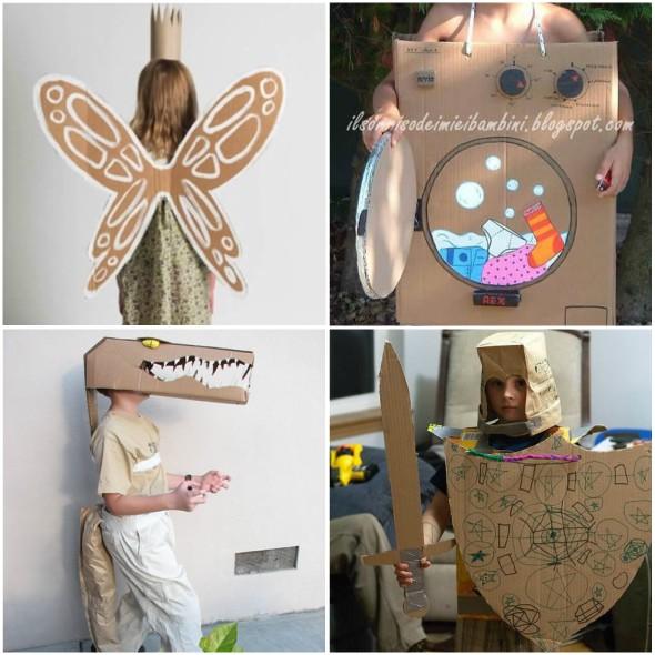 25 Fantasias Criativas e Improvisadas com Papelão para o Carnaval