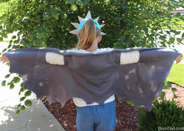 Fantasia de Dragão Improvisada para Crianças passo a passo