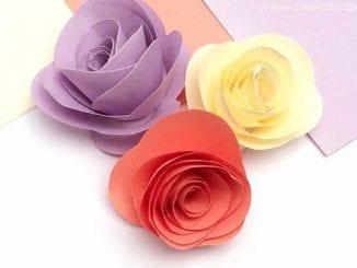 Flores de Papel Fácil de Fazer para Decoração passo a passo