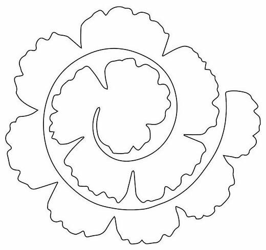 Flores de Papel Fácil de Fazer com Moldes para Decoração