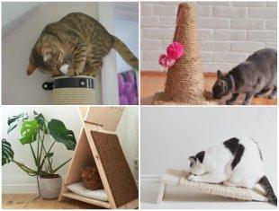 10 Arranhadores Caseiros para Gatos passo a passo