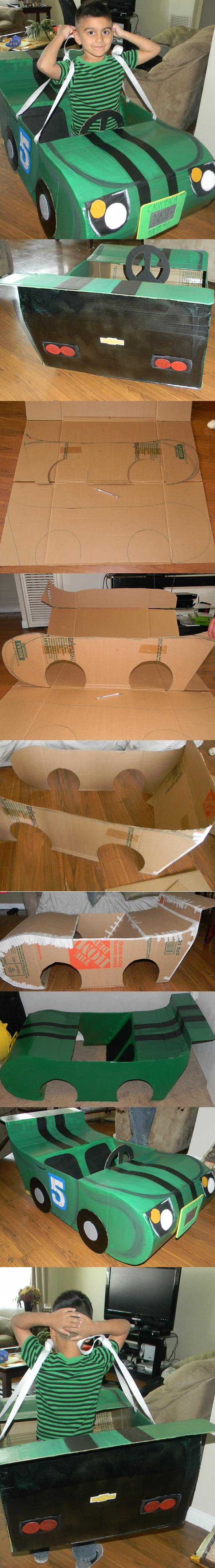 Como fazer Carrinho de Caixa de Papelão