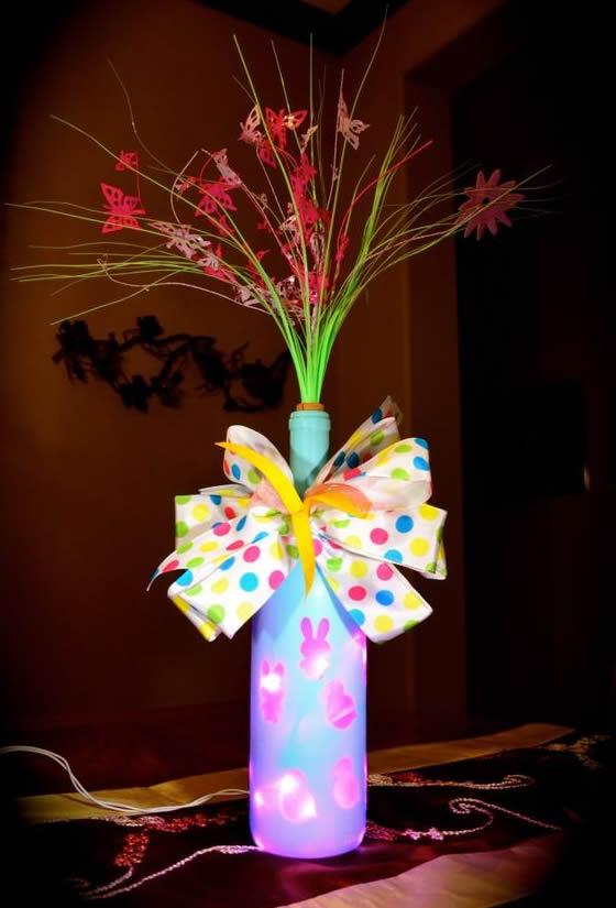 20 Ideias de Decoração de Páscoa com Garrafas Decoradas