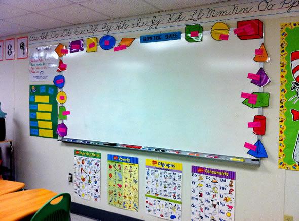 Decoração Sala de aula lousa