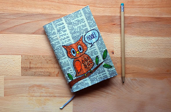 Como Encapar Caderno com Folhas de Livro Velho