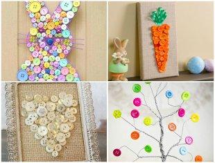 10 Ideias Lindas para Decoração com Botões para a Páscoa