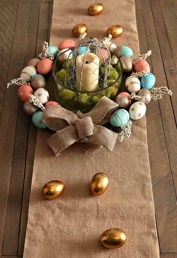 Lindo Arranjo de Mesa para Decoração de Páscoa passo a passo