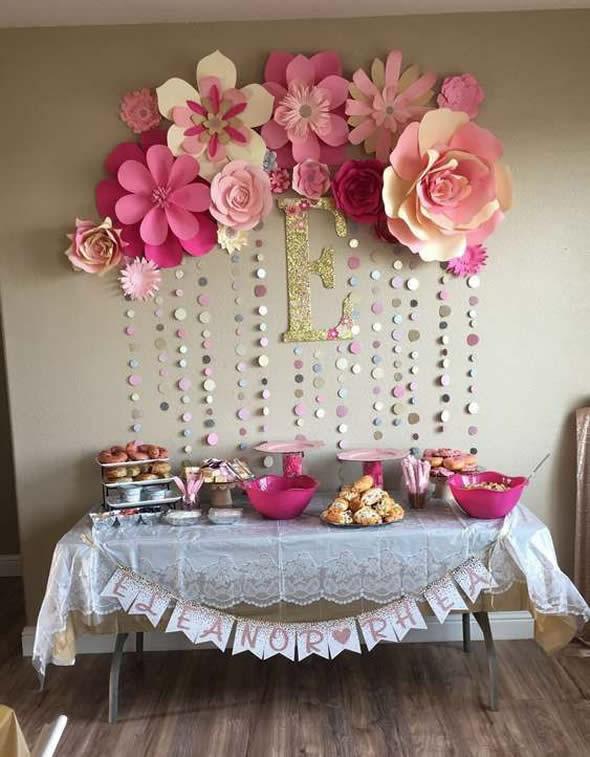12 Ideias Lindas de Mesa Decorada para o Dia das M u00e3es -> Decoração De Festa Para O Dia Das Mães Na Escola