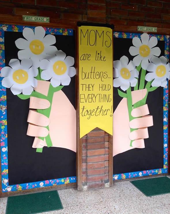 Craft Ideas For Classroom Decoration ~ Enfeites de decoração para dia das mães na escola